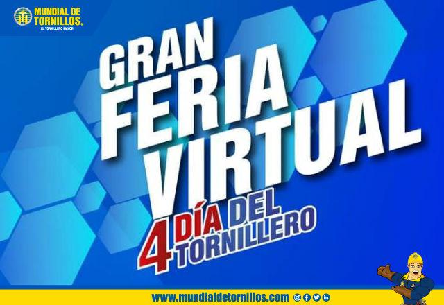 Inscr�base para participar en la feria virtual del 4 D�a del Tornillero por medio de nuestro n�mero celular o correo electr�nico.