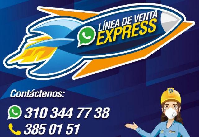 Adquiera nuestros productos de forma segura a través de la nueva línea de venta express.