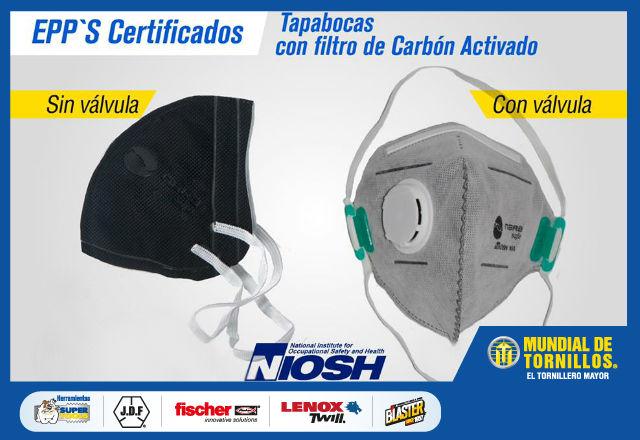 Los tapabocas con filtro de carb�n activado son ideales para protegerse contra elementos contaminantes presentes en la atm�sfera.