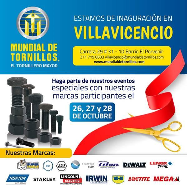 Conozca la nueva sede en Villavicencio de Mundial de Tornillos
