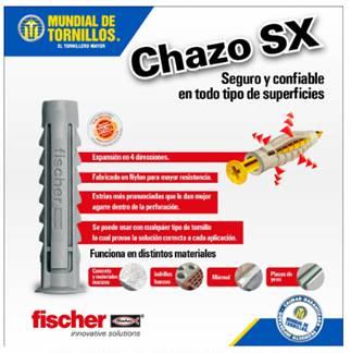 Encuentre el chazo de nylon SX en Mundial de Tornillos.