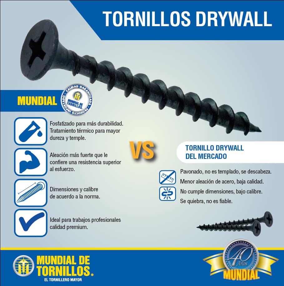 El tornillos Drywall, con calidad y reconocimiento Mundial